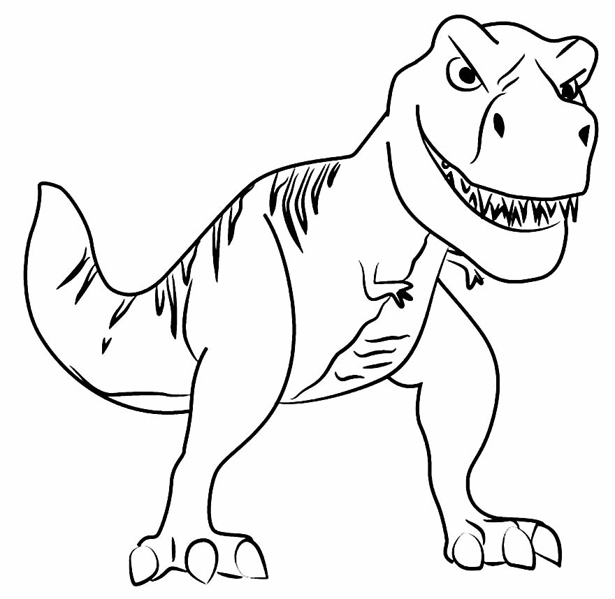 T-Rex drawing for coloring and painting
