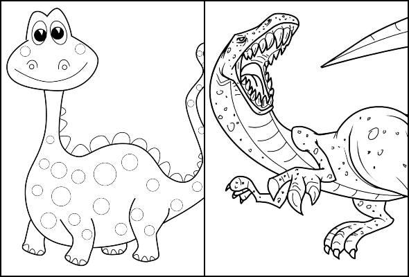 Dinosaur drawings for coloring