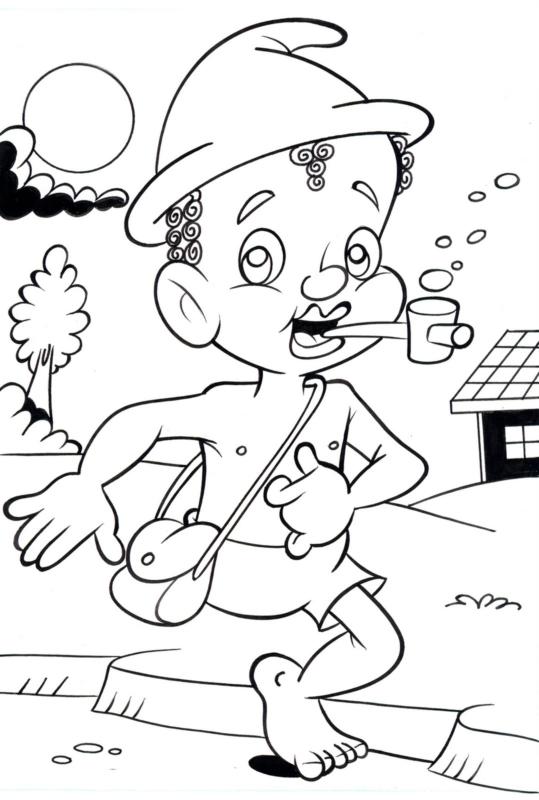 printable drawing of Saci