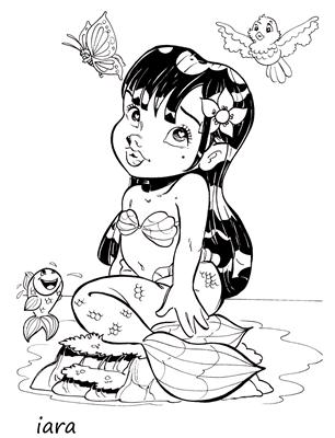 Iara coloring page for free