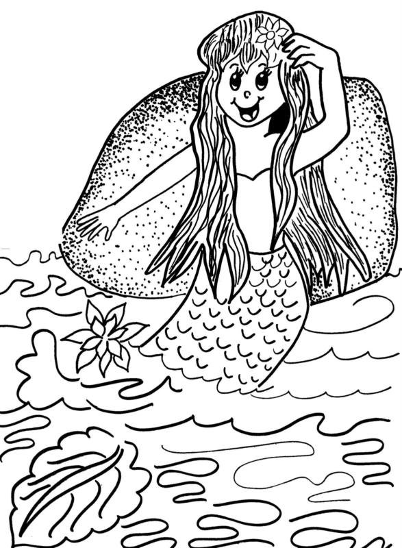 Iara folklore drawing