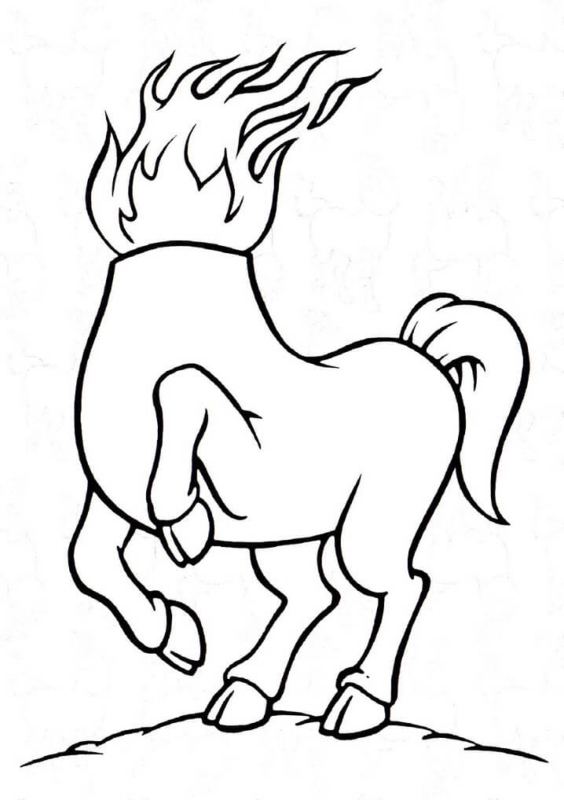 design of the headless mule to print free