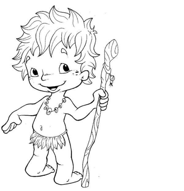 coloring activity legend of Curupira