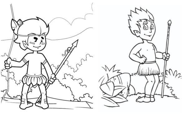 Curupira coloring page
