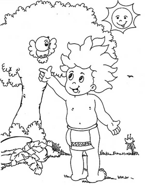 coloring activity of the legend of Curupira
