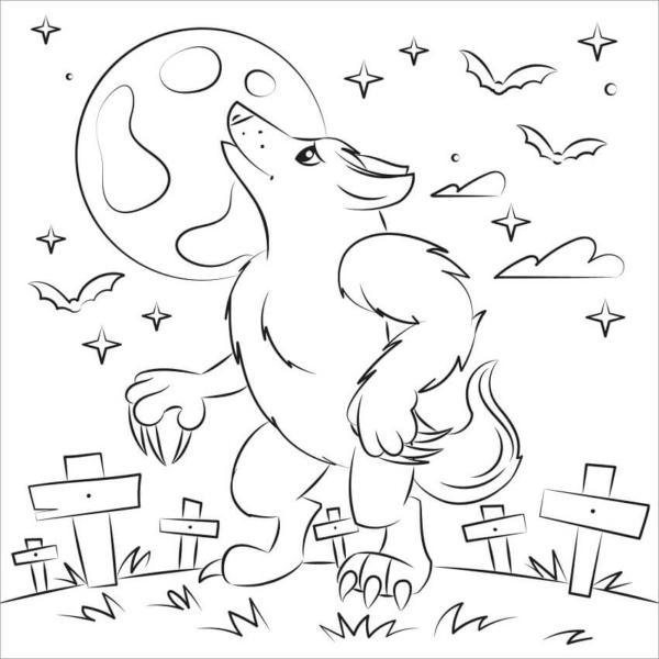 Werewolf activity to print free