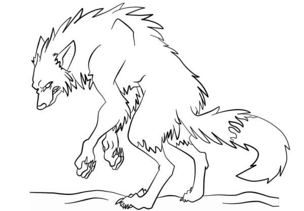 Werewolf activity to paint