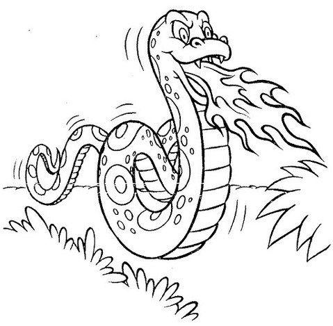 legend of Boitata coloring page