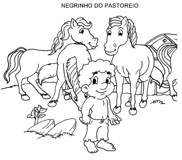 activity of Negrinho do Pastoreio to print and color