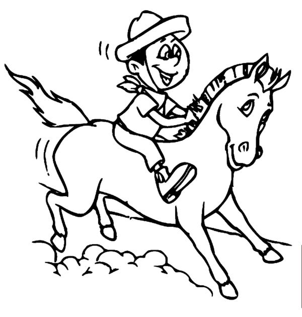 drawing of the legend of Negrinho do Pastoreio