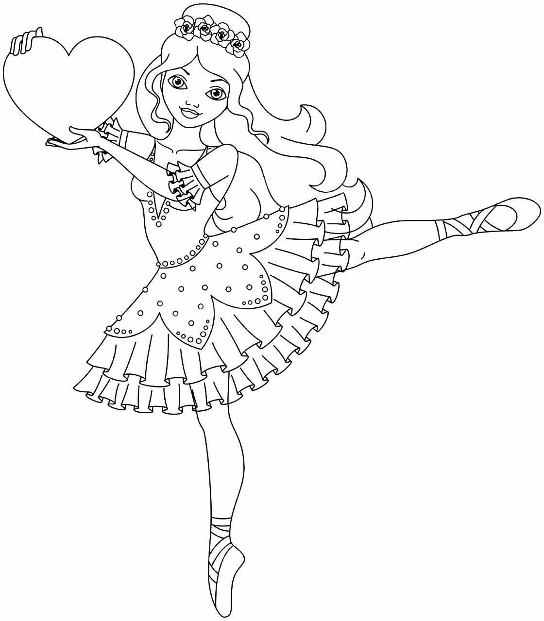 Ballerina painting drawing
