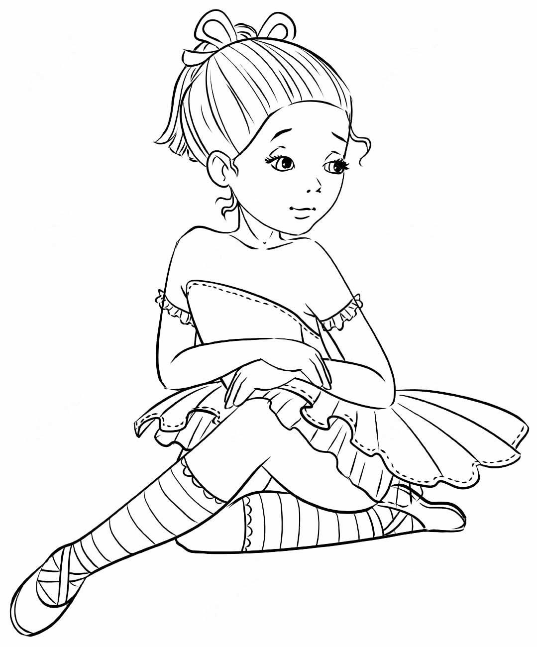 Ballerina drawing paint