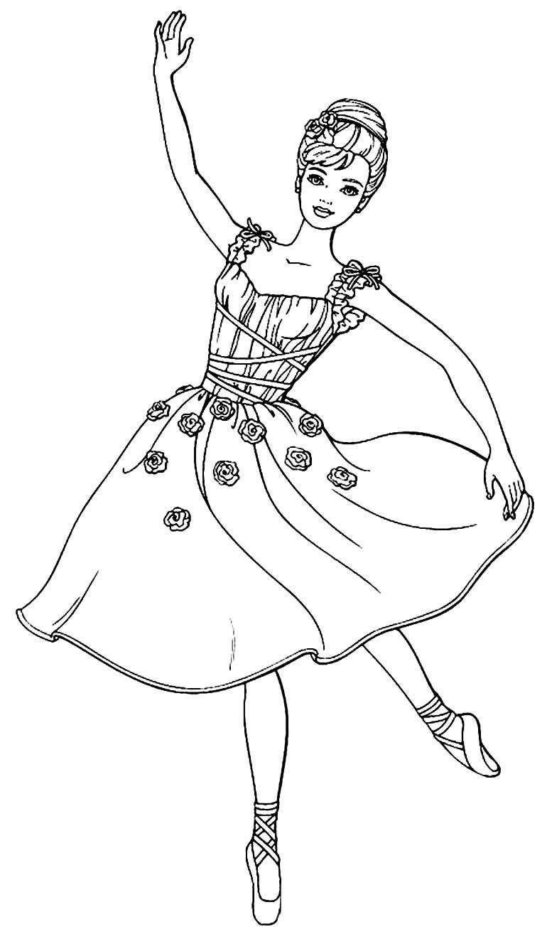 Ballerina drawing coloring