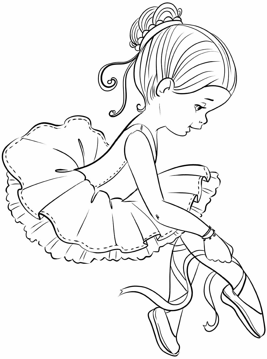Drawing of Ballerinas to paint