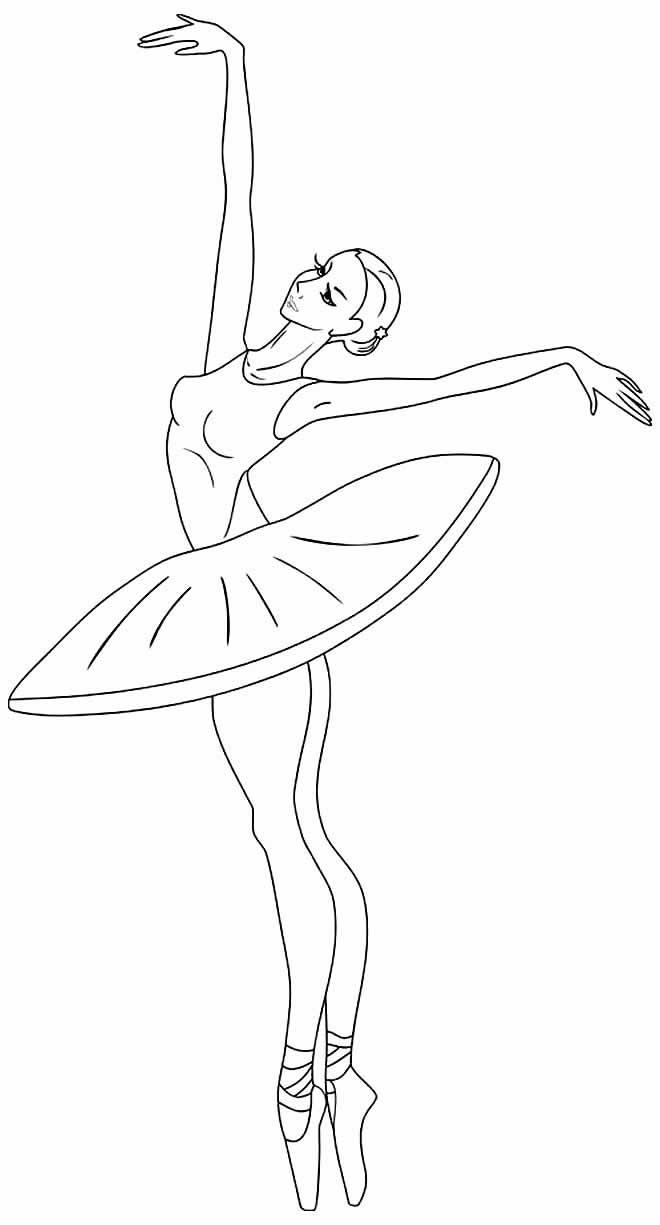 Ballerinas coloring page