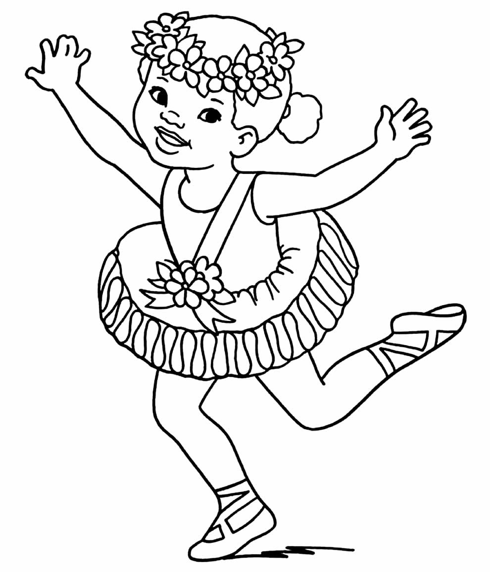 Ballerina coloring page