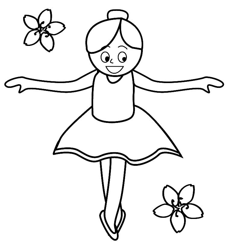 Ballerina drawing to paint