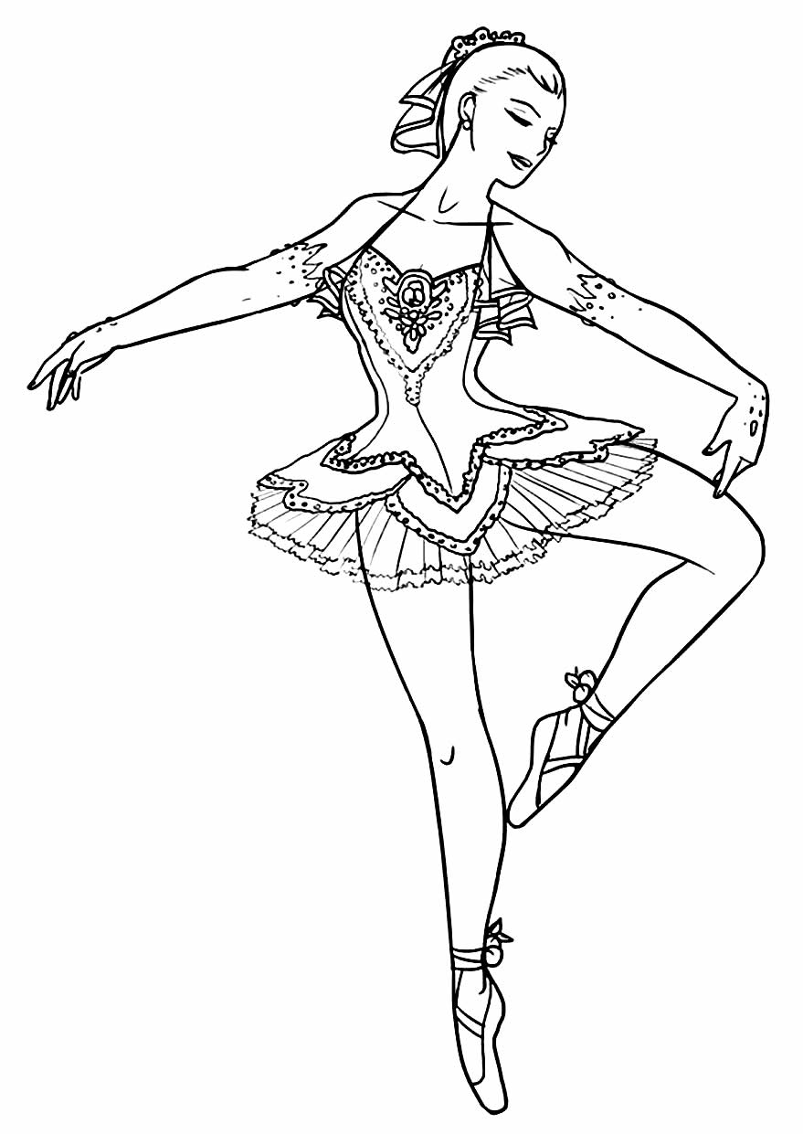 Drawing to paint and color Ballerina