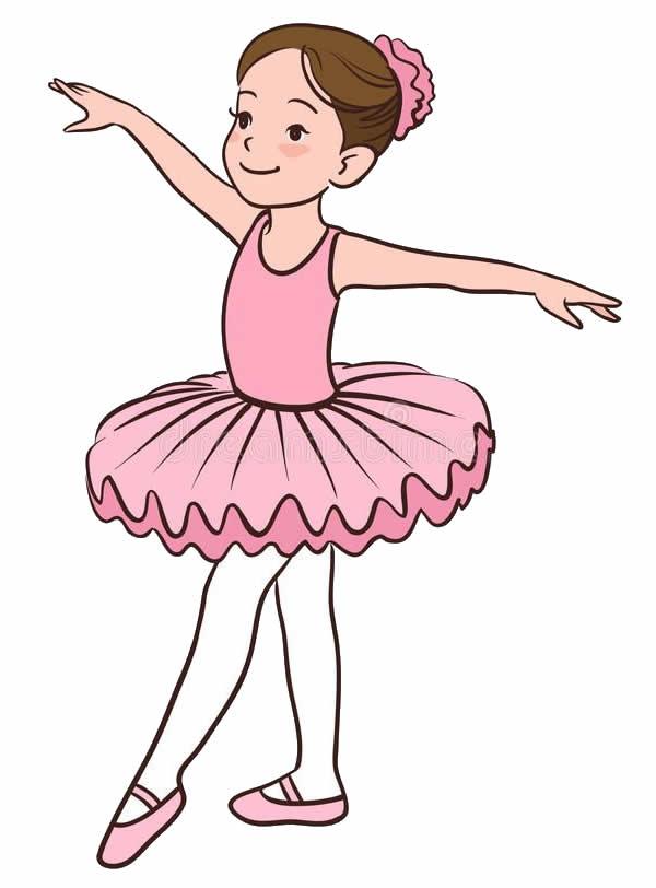 Ballerina colorful drawing