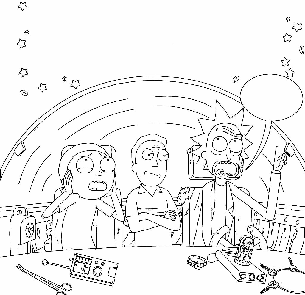 Rick & Morty coloring page