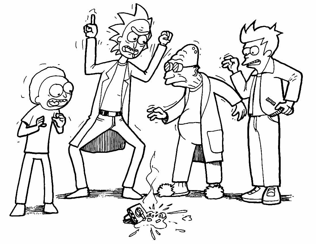 Rick and Morty image to paint and color