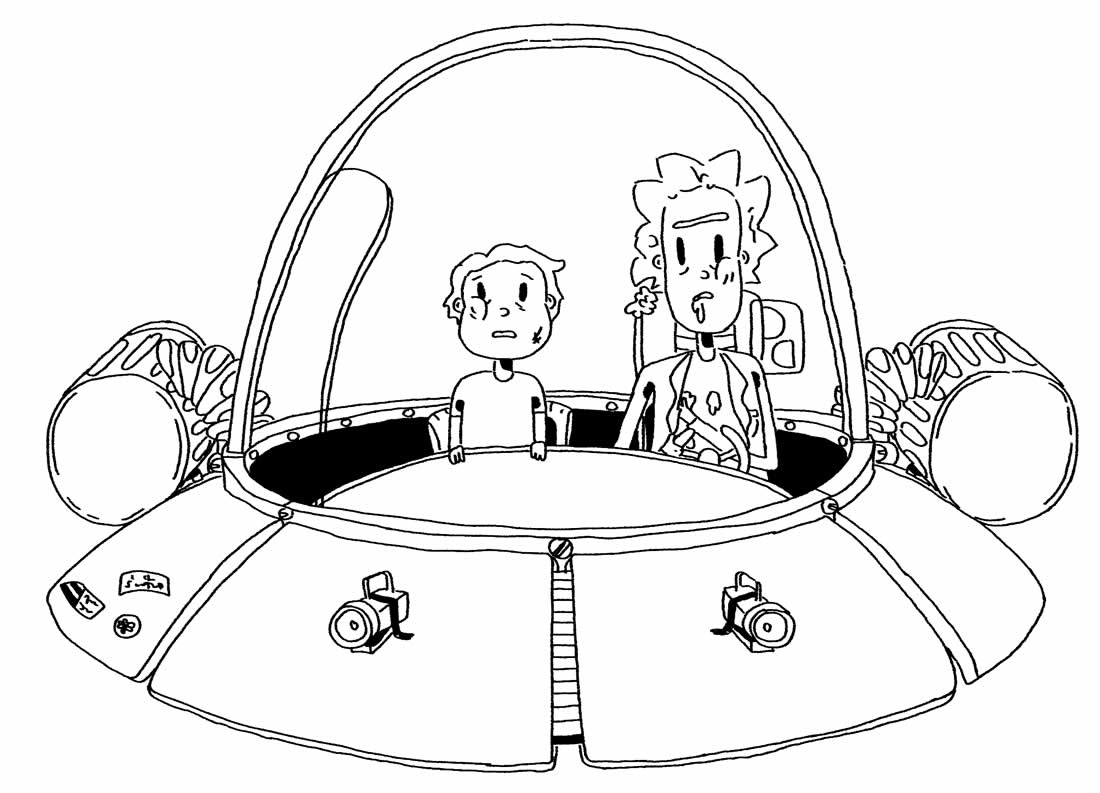 Rick and Morty's Ship Drawing