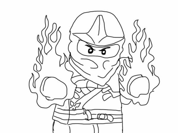 Ninjago Jay coloring page