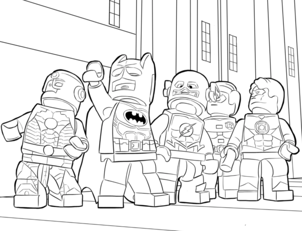 Batman and DC Heroes coloring page