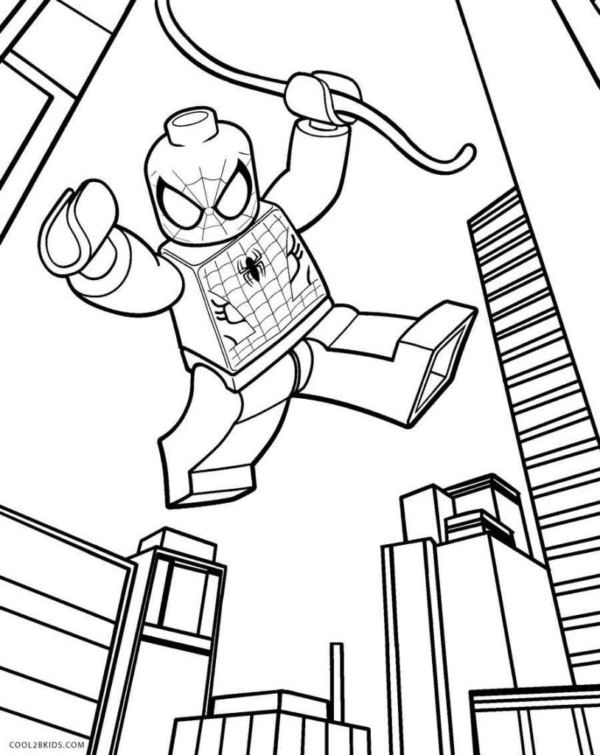 Spider Man for printing and coloring