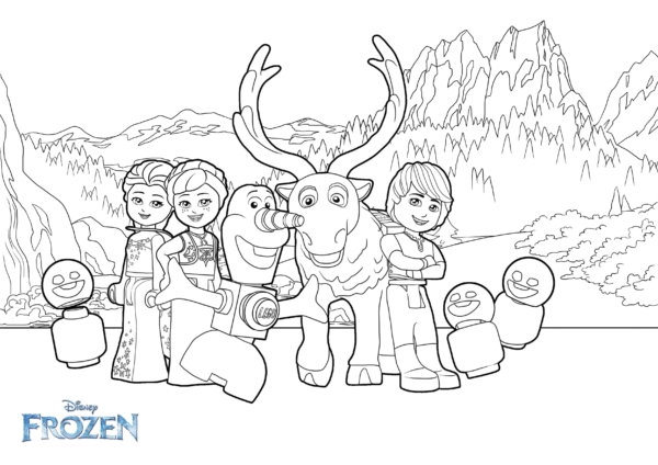 Frozen characters to color