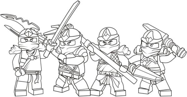 Ninjago characters to color