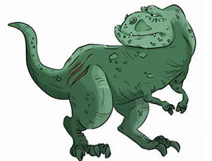 T-Rex drawings for printing and coloring