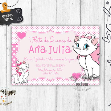 Invitation Ideas for the Kitten Marie Party