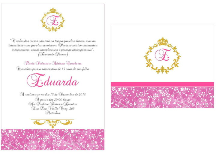 Pink and Gold Party Invitation Ideas