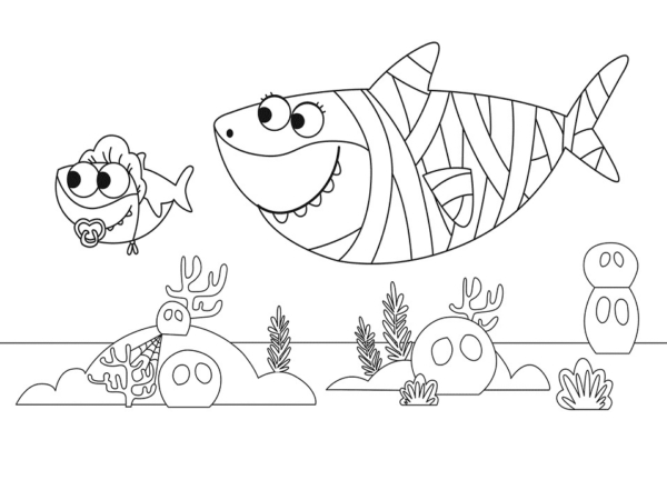 baby shark seabed drawing