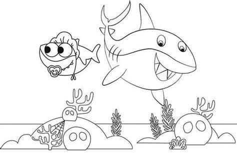 baby shark coloring activity