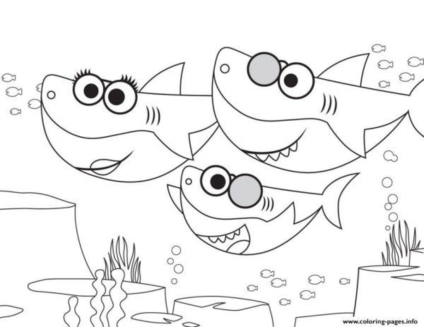 activity to paint baby shark