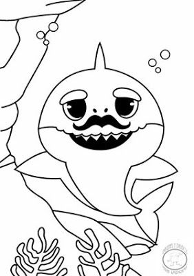 inspiration for baby shark coloring