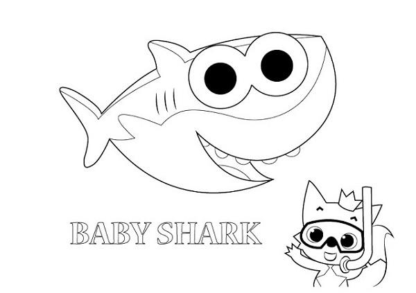 baby shark paint activity