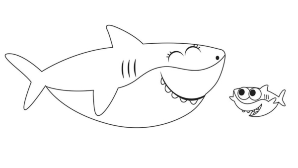 baby shark activity to paint for free