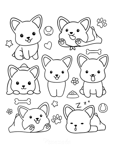 doggie drawing for coloring