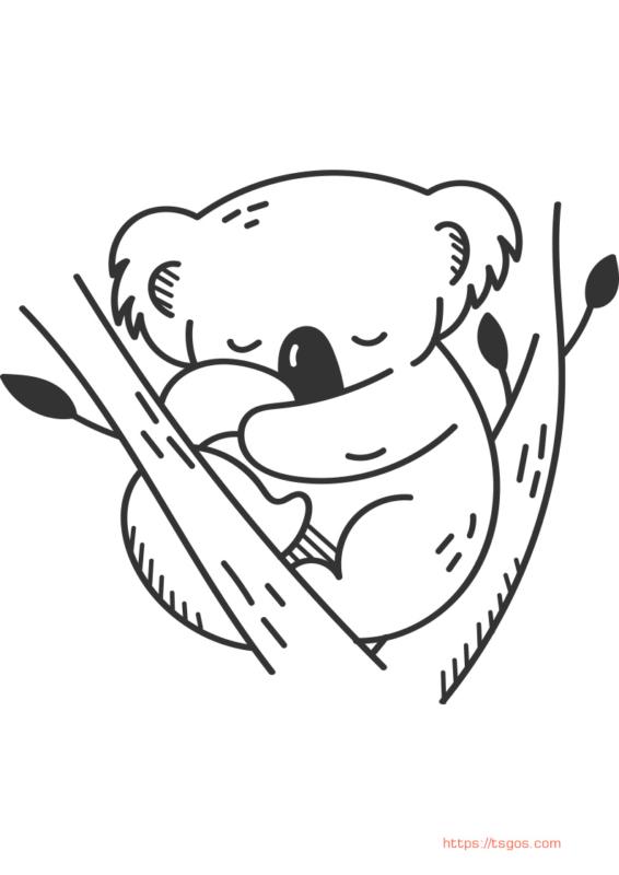 cute koala drawing
