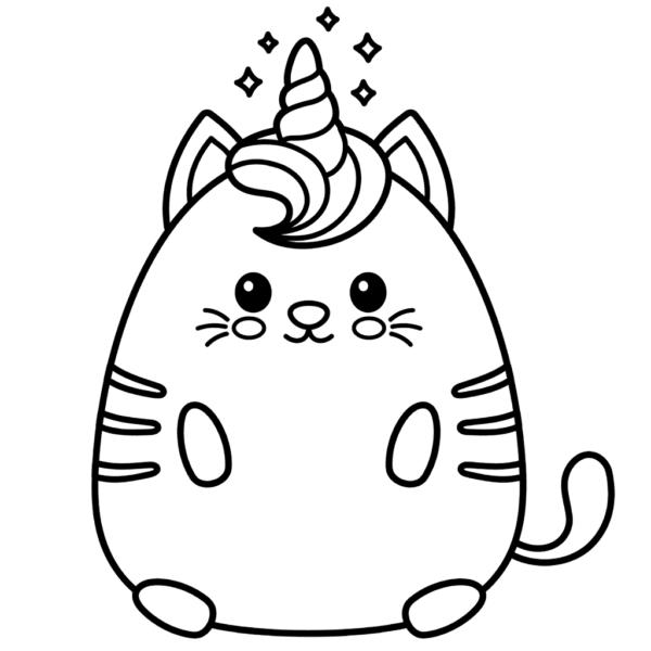 unicorn cat coloring