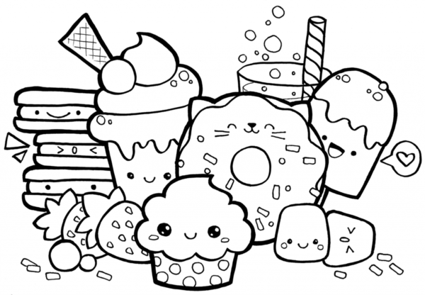 cute sweets to color