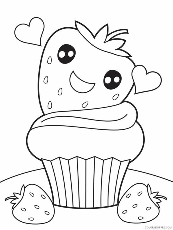fluffy strawberry cupcake