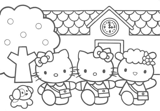 Hello Kitty to print and color