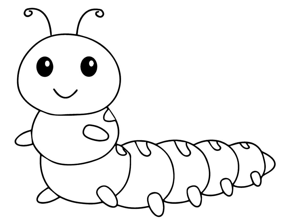 Caterpillar drawing to paint