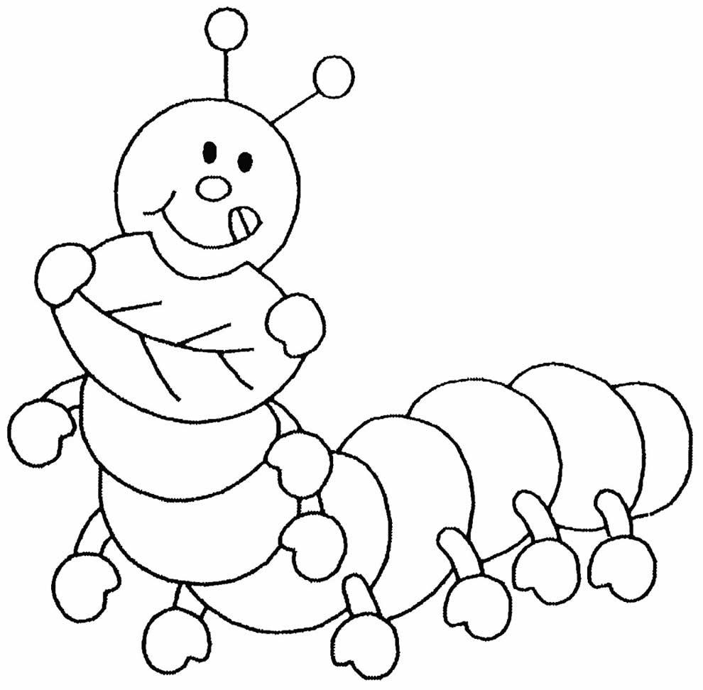 Caterpillar design to print