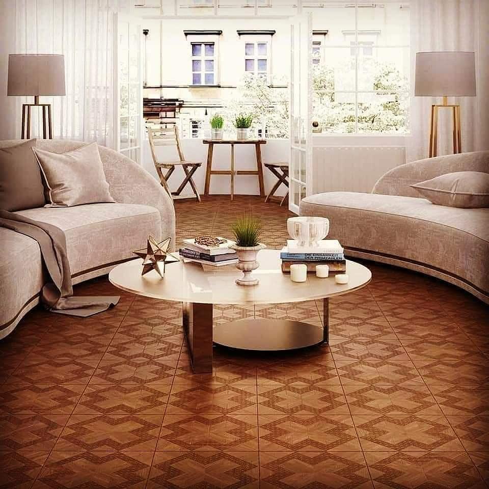 ceramic floor with design