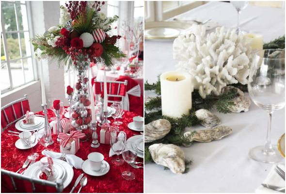 Decorate your Christmas table in a beautiful and delicate way